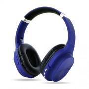Foldable Bluetooth Earphone Wireless Headset 800mAh Large Capacity Battery Bass Sound - Blue