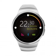 KW18 1.3 inch IPS LCD Bluetooth Smart Watch Phone Υποστηρίζει SIM / TF Κάρτα με Heart Rate Pedometer Sedentary - Ασημί