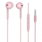 HOCO M55 Universal 3.5mm Wired Rhyme Sound Headphone with Microphone - Pink