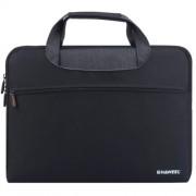 HAWEEL Αδιάβροχη Υφασμάτινη Τσάντα Μεταφορές για Laptops και Tablets μέχρι 15 ιντσών - Μαύρο