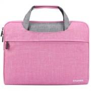 HAWEEL Αδιάβροχη Υφασμάτινη Τσάντα Μεταφορές για Laptops και Tablets μέχρι 15 ιντσών - Ροζ