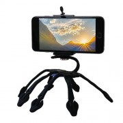 Creative Multipurpose Holder Portable Silicone Phone Sports Camera Bracket Flexible Octopus Tripod Stand Mount - Black