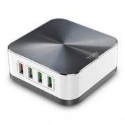 TOPK 8-Port 50W Auto-ID Επιτραπέζιος Αντάπτορας με 8 Θύρες USB, Υποστηρίζει Γρήγορη Φόρτιση 3.0