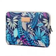 Colorful Leaves Zipper Closure Notebook Handbag for MacBook Air 11 Inch/HP DELL IBM, Size: 31 x 21.5 x 1.5 cm - Blue