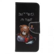 Δερμάτινη Θήκη Πορτοφόλι με Βάση Στήριξης για Nokia 5.1 Plus - Θυμωμένο Αρκουδάκι