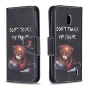 Δερμάτινη Θήκη Πορτοφόλι με Βάση Στήριξης για Nokia 2.2 - Θυμωμένο Αρκουδάκι