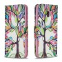 Printing Style PU Leather Flip Stand Phone Case for Nokia 2.2 - Colorized Tree
