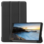 Tri-fold Stand Leather Tablet Casing for Samsung Galaxy Tab A 8.0 Wi-Fi (2019) T290/ LTE T295 - Black