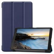 Tri-fold Stand Leather Tablet Casing for Samsung Galaxy Tab A 8.0 Wi-Fi (2019) T290/ LTE T295 - Dark Blue