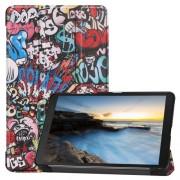 Pattern Printing Tri-fold Stand Leather Tablet Case for Samsung Galaxy Tab A 8.0 (2019) SM-T290/SM-T295 - Cartoon Graffiti