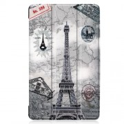 Pattern Printing Tri-fold Stand Leather Tablet Case for Samsung Galaxy Tab A 8.0 (2019) SM-T290/SM-T295 - Eiffel Tower