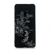 Embossment Style Printing TPU Phone Cover for Xiaomi Redmi K20 / Mi 9T / K20 Pro / Mi 9T Pro -  Black / Lotus and Fish