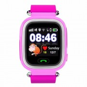 GPS Q90 1.22-inch Touch Screen Παιδικό Ρολόι WIFI Positioning Children Smart Watch Phone Support GPS, SOS Call, Pedometer - Ροζ