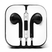 3.5mm Stereo Earphone Headset with Remote and Mic - Black