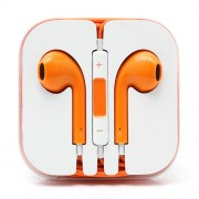 3.5mm Stereo Earphone Headset with Remote and Mic - Orange
