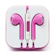 3.5mm Stereo Earphone Headset with Remote and Mic - Rose