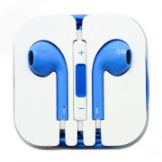 3.5mm Stereo Earphone Headset with Remote and Mic - Blue