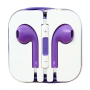 3.5mm Stereo Earphone Headset with Remote and Mic - Purple