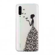 Clear Pattern Printing Soft TPU Back Cover for Xiaomi Mi CC9e/Mi A3 - Butterfly Girl