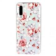 Embossed Pattern TPU Case for Xiaomi Mi CC9e/Mi A3 - Red Flowers