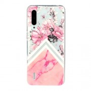 Embossed Pattern TPU Case for Xiaomi Mi CC9e/Mi A3 - Flower and Marble Grain