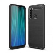 Carbon Fiber Texture Brushed TPU Phone Case for Xiaomi Redmi Note 8 - Black