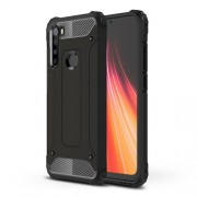 Armor Guard Stylish Plastic + TPU Hybrid Case for Xiaomi Redmi Note 8 - Black
