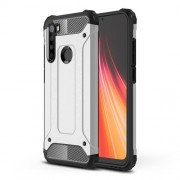 Armor Guard Stylish Plastic + TPU Hybrid Case for Xiaomi Redmi Note 8 - Silver