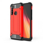 Armor Guard Stylish Plastic + TPU Hybrid Case for Xiaomi Redmi Note 8 - Red