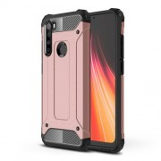Armor Guard Stylish Plastic + TPU Hybrid Case for Xiaomi Redmi Note 8 - Rose Gold