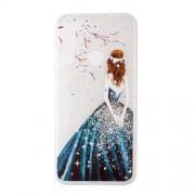 Θήκη Σιλικόνης TPU για Xiaomi Redmi Note 8 - Κορίτσι με Μπλε Φόρεμα