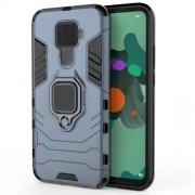 Cool Guard Ring Holder Kickstand PC TPU Hybrid Case for Huawei Mate 30 Lite/Nova 5i Pro - Blue