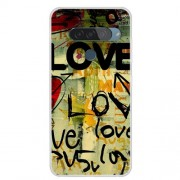 Pattern Printing TPU Phone Case for LG G8s ThinQ - LOVE Pattern