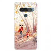Pattern Printing TPU Phone Case for LG G8s ThinQ - Happy Running