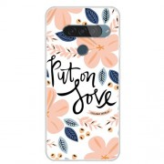 Pattern Printing TPU Phone Case for LG G8s ThinQ - Flower Pattern