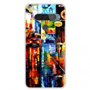 Pattern Printing TPU Phone Case for LG G8s ThinQ - Oil Painting