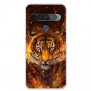 Pattern Printing TPU Phone Case for LG G8s ThinQ - Tiger