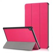 Δερμάτινη Θήκη Βιβλίο Tri-Fold με Βάση Στήριξης για Huawei MediaPad M5 10 / M5 10 (Pro) - Φούξια