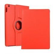 Περιστρεφόμενη Δερμάτινη Θήκη Βιβλίο με Βάση Στήριξης για iPad 10.2 (2019) - Κόκκινο