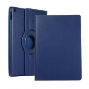 Περιστρεφόμενη Δερμάτινη Θήκη Βιβλίο με Βάση Στήριξης για iPad 10.2 (2019) - Σκούρο Μπλε