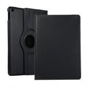 Περιστρεφόμενη Δερμάτινη Θήκη Βιβλίο με Βάση Στήριξης για iPad 10.2 (2019) - Μαύρο