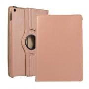 Περιστρεφόμενη Δερμάτινη Θήκη Βιβλίο με Βάση Στήριξης για iPad 10.2 (2019) - Ροζέ Χρυσαφί