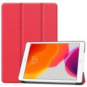 Tri-fold Stand Leather Smart Case for iPad 10.2 (2019) - Red
