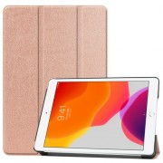 Tri-fold Stand Leather Smart Case for iPad 10.2 (2019) - Rose Gold