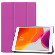 Tri-fold Stand Leather Smart Case for iPad 10.2 (2019) - Purple