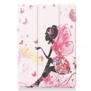 Pattern Printing PU Leather Tri-fold Stand Tablet Case for iPad 10.2 (2019) - Beauty
