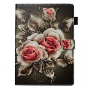 Pattern Printing PU Leather Stand Wallet Protective Tablet Case for iPad 10.2 (2019) - Flowers