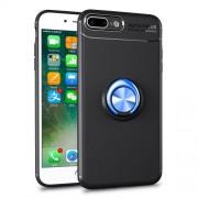 Υβριδική Θήκη Σιλικόνης TPU με Μεταλλικό Μαγνητικό Δαχτυλίδι που κάνει Βάση Στήριξης για iPhone 8 Plus / 7 Plus - Μαύρο / Μπλε