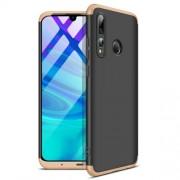 GKK 360 μοιρών Σκληρή Θήκη Ματ με Βελούδινη Υφή Πρόσοψης και Πλάτης για Huawei P Smart Plus 2019 / Honor 20 Lite - Μαύρο / Χρυσαφί