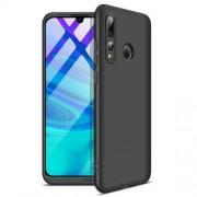 GKK 360 μοιρών Σκληρή Θήκη Ματ με Βελούδινη Υφή Πρόσοψης και Πλάτης για Huawei P Smart Plus 2019 / Honor 20 Lite - Μαύρο